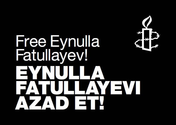 Amnesty International poster: Free Eynulla Fatullayev!