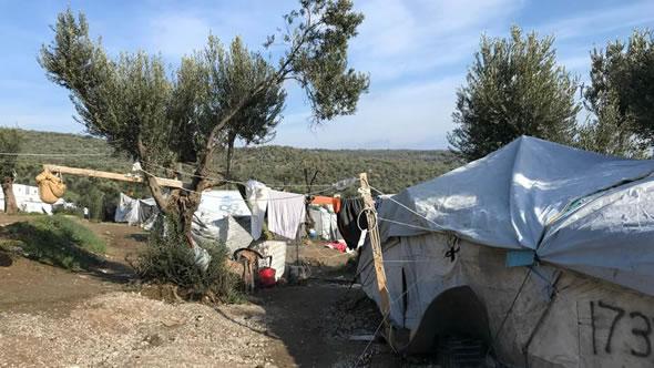 Refugee camp on Lesbos