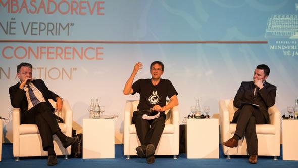 Gerald Knaus at the annual Ambassadors' conference in Tirana, July 2014
