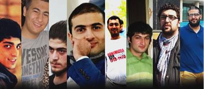 akhtiyar Guliyev, Shahin Novruzlu, Mahammad Azizov, Reshad Hasanov,  Rashadat Akhundov, Uzeyir Mammadli, Zaur Gurbanli, İlkin Rustemzade