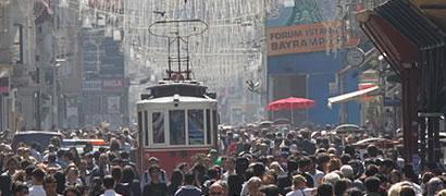 İstiklal Avenue, Istanbul. Photo: Wikimedia Commons/Zumrasha