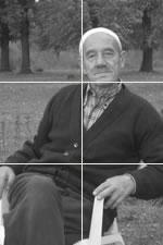 Mann im Kosovo