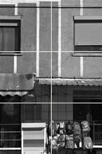 Häuserfront - Tirana, Albanien