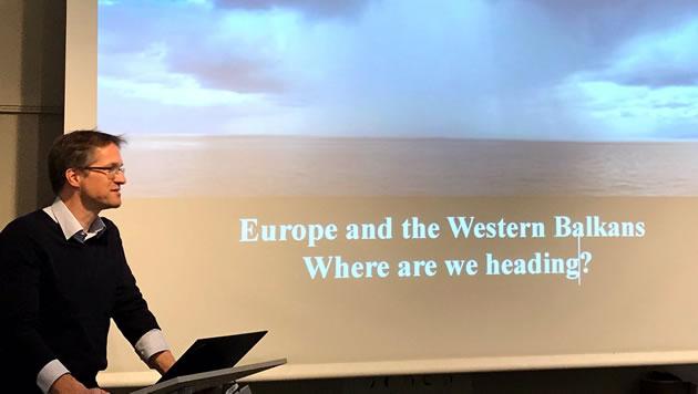Gerald Knaus at Sida in Stockholm. Photo: ESI