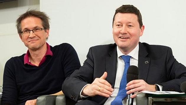 Gerald Knaus and Martin Selmayr. Photo: Österreichische Gesellschaft für Europapolitik