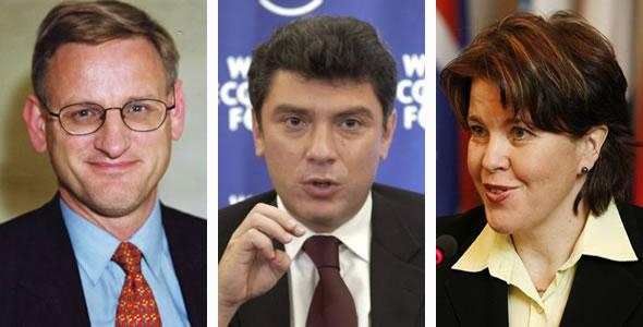 Carl Bildt, Boris Nemtsov, Teija Tiilikainen