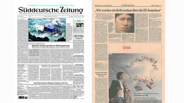 ESI in Süddeutsche Zeitung and Der Standard