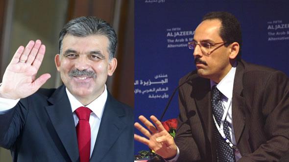 Turkish President Abdullah Gul and Ihrahim Kalin, foreign policy advisor of Turkish Prime Minister Recep Erdogan