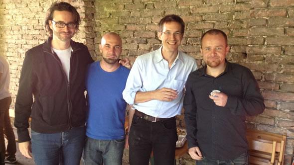 Markus Glaser, Max Kliewer, Gerald und Fritz Ofner. Photo: ESI