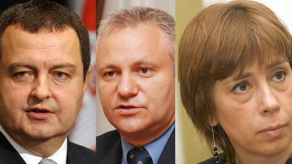 Ivica Dacic, Mladjan Dinkic, Milica Delevic