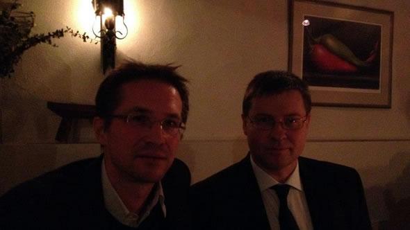 Gerald Knaus and Valdis Dombrovskis, Latvian prime minister