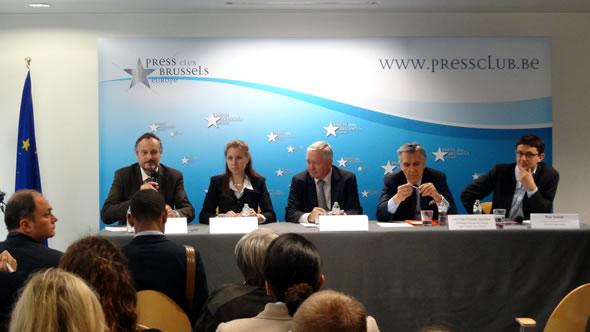 Alain Deletroz, Ksenia Vakhrusheva, Fraser Cameron, Luis Felipe Fernandez de la Pena, and Ben Judah. Photo: EU-Russia Centre