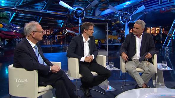 Klaus Hänsch, Gerald Knaus, and Johannes Willms. Photo: ServusTV