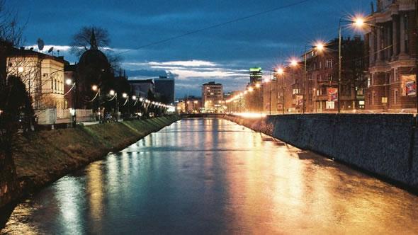 Miljacka river in Sarajevo. Photo: ÖFZ