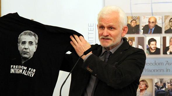Belarus Dissident Ales Bialiatski. Photo NHC