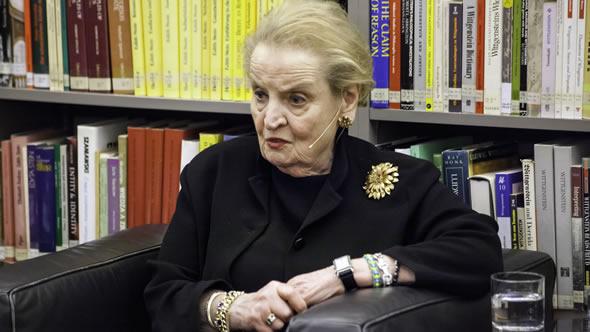 Madeleine Albright. Photo: IWM / Daniel Mikkelsen