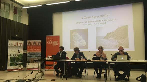 Gerald Knaus, Manuel Lafont Rapnouil, Almut Möller, and Thibaut Jaulin. Photo: ECFR