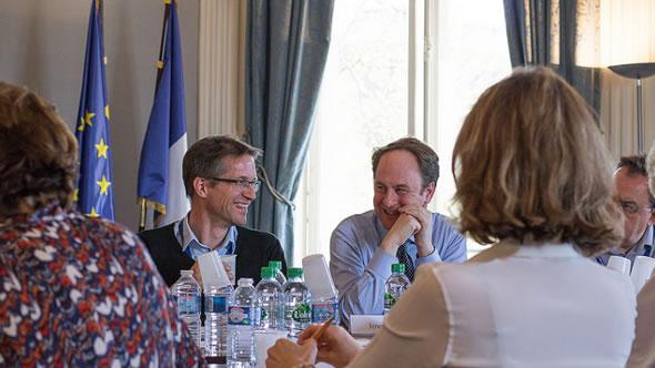 Gerald Knaus (left). Photo: ECFR