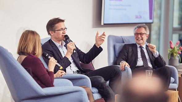 Gisela Steinhauer, Gerald Knaus, and Hans Vorländer. Photo: Peter Gwiazda/Stiftung Mercator