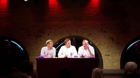 Gerald Knaus, Tobias Rapp, and Robin Alexander. Photo Robin Alexander