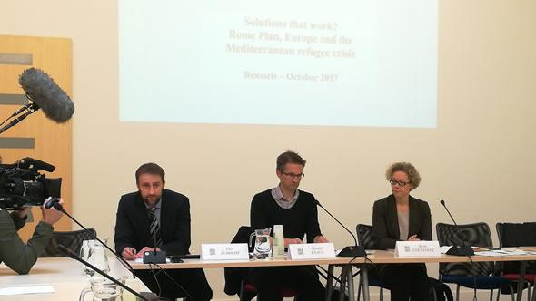 Lars Ludolph, Gerald Knaus, and Berta Fernández. Photo: Mikkel Barslund
