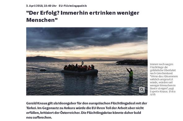 """Süddeutsche Zeitung, Stefan Braun,""""Der Erfolg? Immerhin ertrinken weniger Menschen"""""""