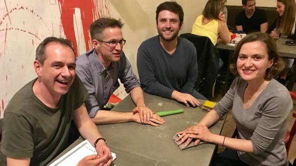 Kristof Bender, Gerald Knaus, Adnan Cerimagic, and Besa Shahini. Photo: ESI
