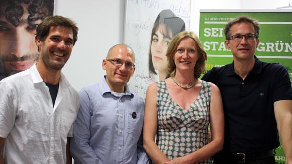 David Lohmüller, Alexander Supady, Kerstin Andreae, and Gerald Knaus. Photo: Kerstin Andreae