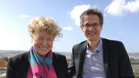 Gesine Schwan and Gerald Knaus. Photo: ESI