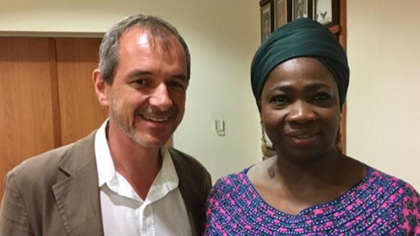 Kristof with Abike Dabiri-Erewa, Senior Special Assistant to the President on Foreign Affairs and Diaspora. Photo: ESI