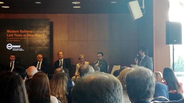 Adnan Cerimagic speaking at Bled Strategic Forum. Photo: ESI