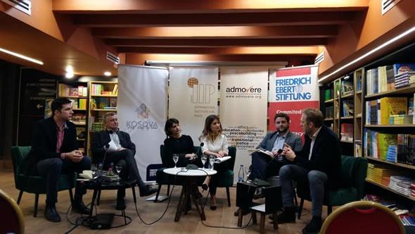 Adnan Cerimagic at a conference in Pristina. Photo: ESI