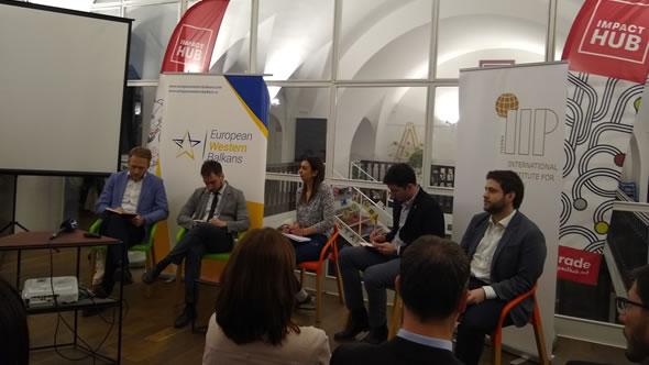 Adnan Cerimagic at a conference in Belgrade. Photo: ESI