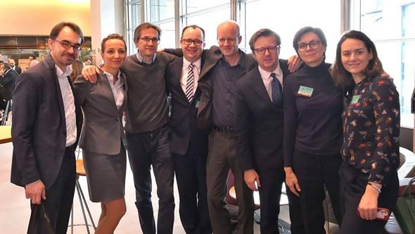 Piotr Buras, Sylwia Gregorczyk-Abram, Gerald Knaus, Adam Bodnar, Iver Ørstavik, Paulina Kieszkowska-Knapik, and Maria Ejchart-Dubois. Photo: ESI