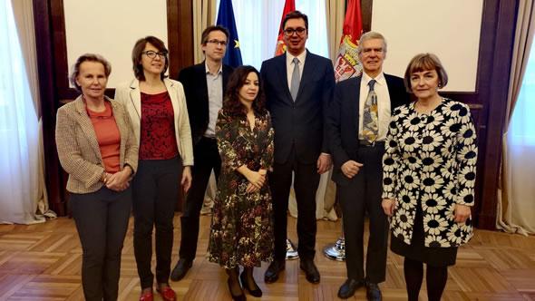 Group photo with Serbian President Aleksandar Vucic. Photo: Serbian Government