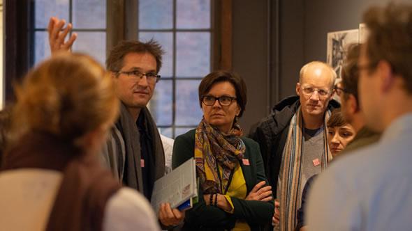 At Märkisches Museum, delving into Berlin's history. Gerald Knaus, Paulina Kieszkowska-Knapik, Iver Orstavik and Magdalena Milenkovska. Photo: Kristof Bender/ESI