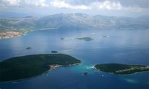 Inseln vor der kroatischen Küste