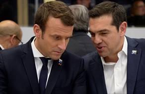 Emmanuel Macron and Alexis Tsipras