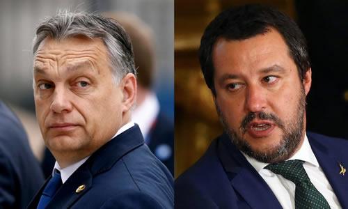 Viktor Orban – Matteo Salvini. Photo: Elisabeth Hunyadi @E_Hunyadi