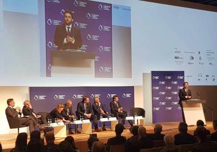 Alpbach: Adnan Cerimagic speaking to Aleksandar Vucic, Hashim Thaci