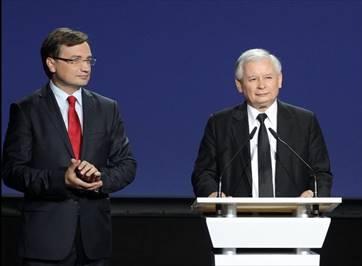 Minister of Justice Zbigniew Ziobro and PiS party president Jarosław Kaczyński