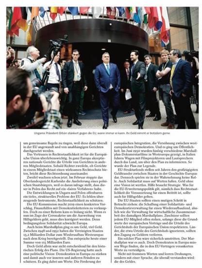 "Essay on EU solidarity in Der Spiegel ""The language of money"""