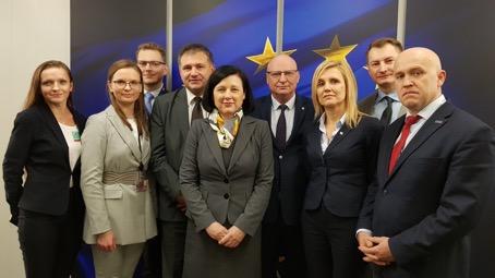 Polish lawyers meeting EU officials